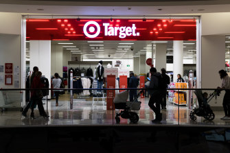 Customers shop at the Target store in Bondi Junction, Sydney, after the company announced store closures across Australia. 22nd May 2020 Photo: Janie Barrett