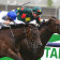 Alligator Blood, on the fence, fights off Catalyst in the CS Hayes Stakes.