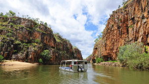 Nitmiluk Tours use flat bottom boats that don't block the views on offer.