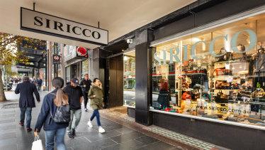 Siricco House of Leather in Bourke Street.