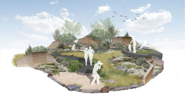 A render of the Phillip Withers display garden for the Melbourne International Flower and Garden Show.