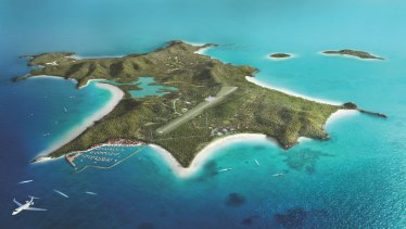 An artist's impression of the proposed Great Keppel Island redevelopment.