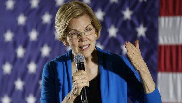 Democratic Senator Elizabeth Warren's resurgence has Wall Street concerned.