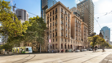 Alcaston House at 2 Collins Street in Melbourne.