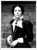 Diana Rigg in her current role, as Shakespeare's Lady Macbeth. National Theatre, 1972.