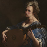Artemisia Gentileschi, Self Portrait as a Lute Player, about 1615-18