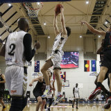 Josh Giddey soars for this dunk during the NBL Cup.