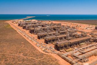 Chevron'sGorgonLNG plant on Barrow Island off Western Australia.