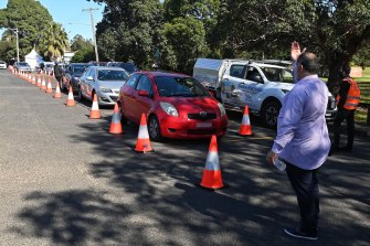 A new drive-through vaccination clinic has opened at Belmore Sports Ground in Sydney's west.