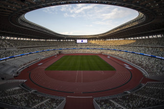 The New National Stadium, the main stadium of the 2020 Olympics and Paralympics.