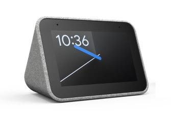 The Lenovo smart alarm clock.