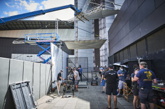 The action film is also shooting at the Melbourne Convention and Exhibition Centre.