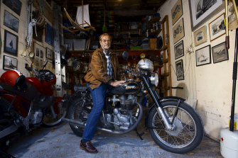 Owning two motorbikes is one of Jeff Mellefont's indulgences.