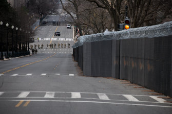 Washington is a ghost town except for the thousands of National Guard troops amassing before Inauguration Day.