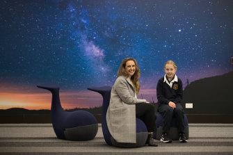 Rowena Vitarelli and her daughter Amelia at Fintona Girls' School.