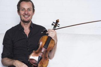 Director of the Australian Chamber Orchestra, Richard Tognetti at home, in Manly, Sydney.