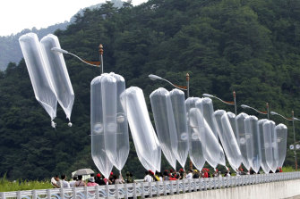 South Korean activists often launch balloons carrying leaflets denouncing the North Korean leader.