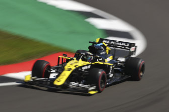 Daniel Ricciardo was third fastest in the afternoon practice session at Silverstone.