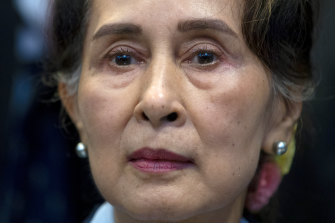 Aung San Suu Kyi has not been seen in public since the coup.