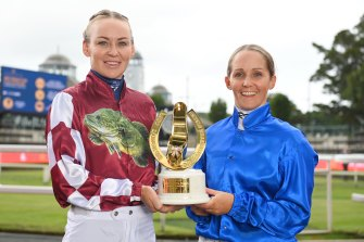Kathy O'Hara and Rachel King will feature in the first Golden Slipper to boast two female jockeys.