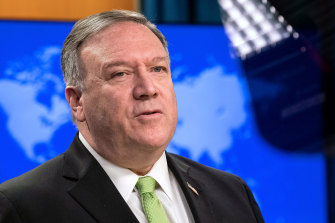 """US Secretary of State Mike Pompeo, pictured, said it was """"clear that China is modelling Hong Kong after itself""""."""