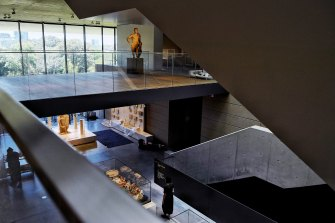 Inside the new Chau Chak Wing Museum at the University of Sydney.