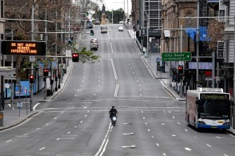The CBD was deserted on Saturday on the first day of a lockdown that has now been extended to all of Greater Sydney.