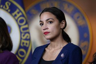 New York Democrat Alexandria Ocasio-Cortez.