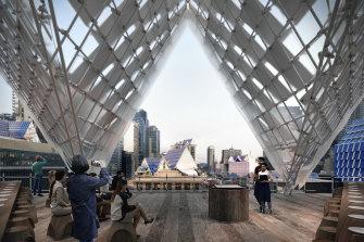 John Wardle Architects reimagine the solar panel for Melbourne Design Week.