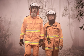 Hunter Page-Lochard and Eliza Scanlen play volunteer firies Mott and Tash across six episodes of ABC drama Fires.
