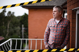 Greg Dayman at his unit in Woolooware. He was thrown off workers' compensation in 2017 when the rules changed.