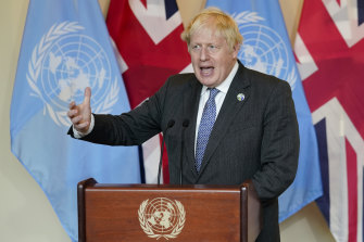 British Prime Minister Boris Johnson is frustrated at the level of commitment given by rich counties to tackling climate change.