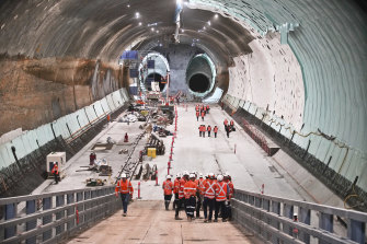 Internal forecasts have estimated the second stage of Sydney's metro rail network will cost up to $16.8 billion.