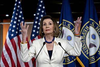 Democratic House speaker Nancy Pelosi was initially reluctant to move to impeach the president.