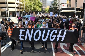 Women's March 4 Justice protest in Sydney.
