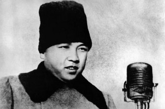 Kim Il-sung, a former guerrilla who gained fame battling Japan's colonial rule, established the Democratic People's Republic of Korea on September 9, 1948. Kim Jong-un's grandfather is seen here in February 1948.