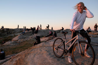 On Friday, Genevieve Quigley watches the sun rise in Maroubra as she marks one year off the booze.