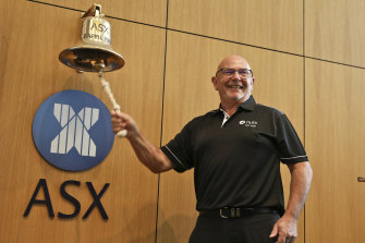 Nuix CEO Rod Vawdrey rings in the company's ASX debut.