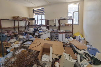 In this photo released by Medecins Sans Frontieres, a looted room is seen in the Sebeya health center in the Tigray region of northern Ethiopia on February 25, 2021.