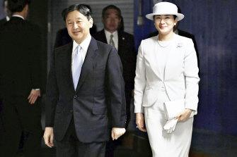 Naruhito and Masako in Tokyo in October.