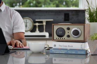 The Model One+ is a digital radio that also has Bluetooth, but it uses analogue-style dials and knobs and doesn't connect to the internet.