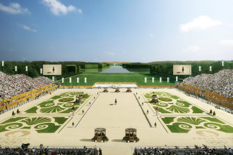 The Palace of Versailles will host equestrian events.