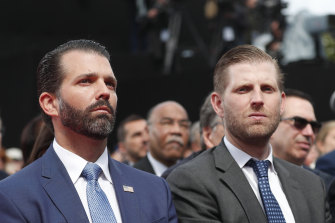 The president's sons, Donald Jr (left) and Eric are executives in the Trump Organisation.