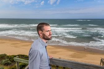 Life Saving Victoria's Kane Treloar at Thirteenth Beach where a man died earlier this month.