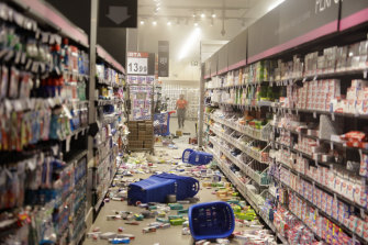 Protesters knocked products off shelves in this Carrefour store in Sao Paulo, Brazil, during a protest against the killing of a black man at another Carrefour store.