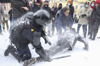 Thousands are protesting across Russia despite the severe winter weather.