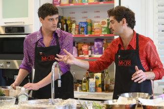 MKR contestants Ben and Vasil.