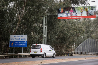 The NSW-Victoria border at Albury-Wodonga has become a flashpoint in the coronavirus recession.