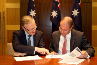 Philip Lowe and Treasurer Josh Frydenberg are pulling in different economic directions.