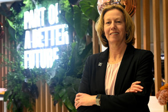 Baptism of fire: Woodside CEO Meg O'Neill has been explaining the company's big buy to investors.